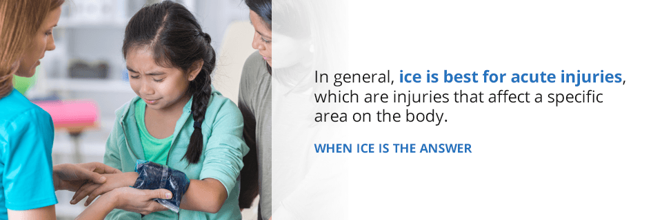 when you should use ice for your injury