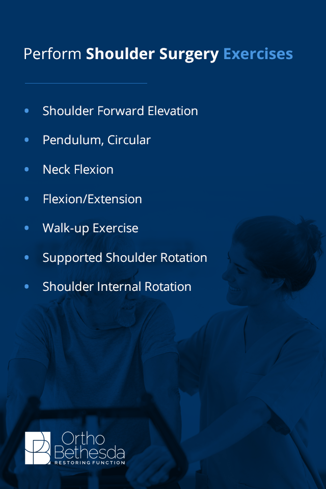 shoulder surgery recovery exercises