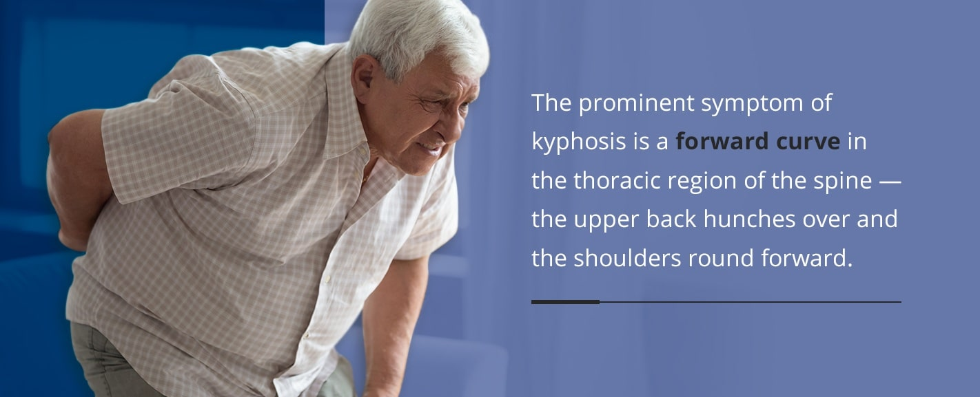 the symptoms of kyphosis