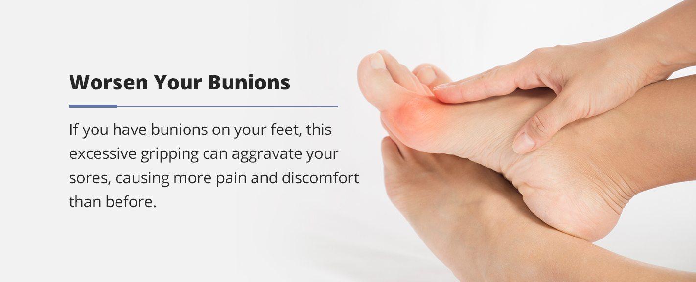 how flip flops can worsen your bunions
