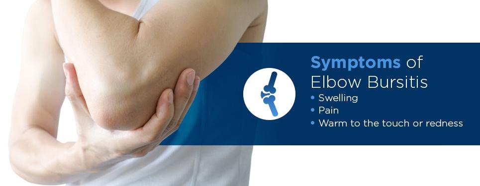 elbow bursitis symptoms