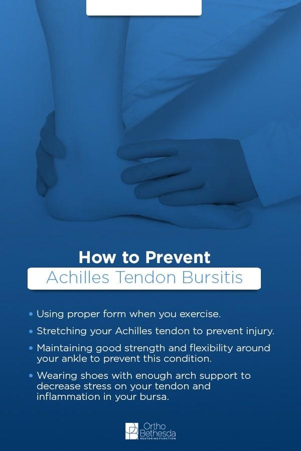 achilles tendon bursitis prevention tips