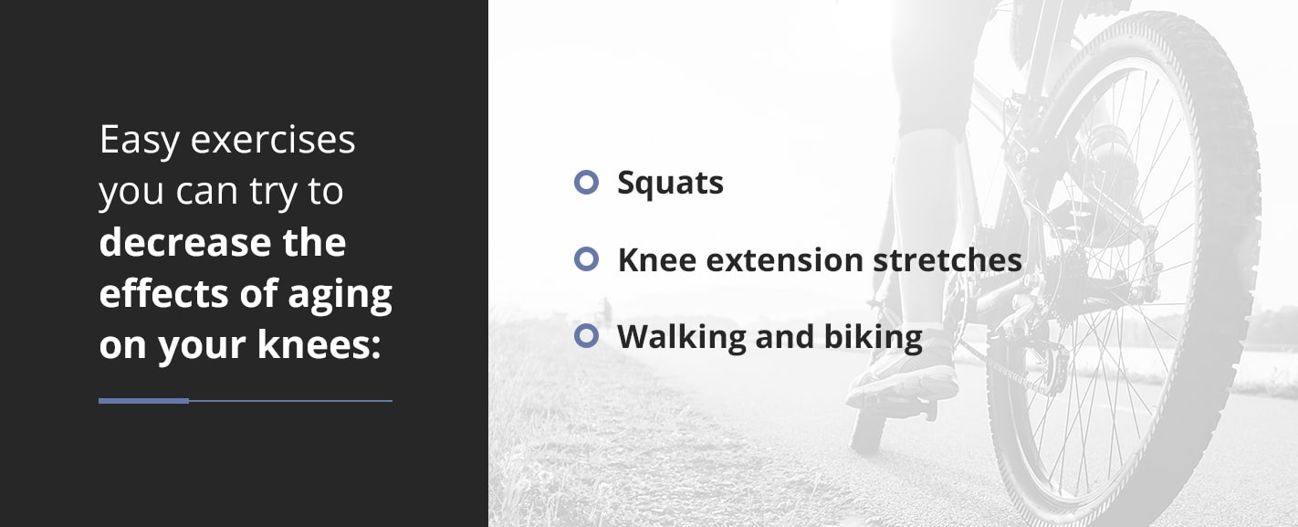 easy exercises to decrease effects of aging of knees