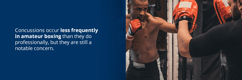 concussions occur less frequently in amateur boxing than they do professionally, but they are still a notable concern