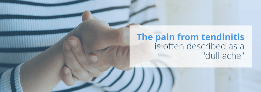 pain from tendinitis described
