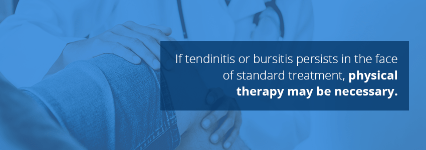 physical therapy for tendinitis and bursitis