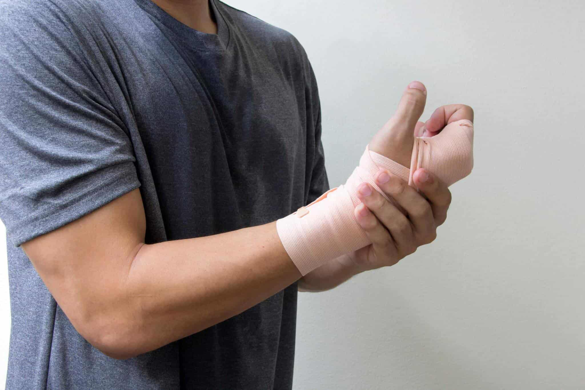 Man with Broken Wrist