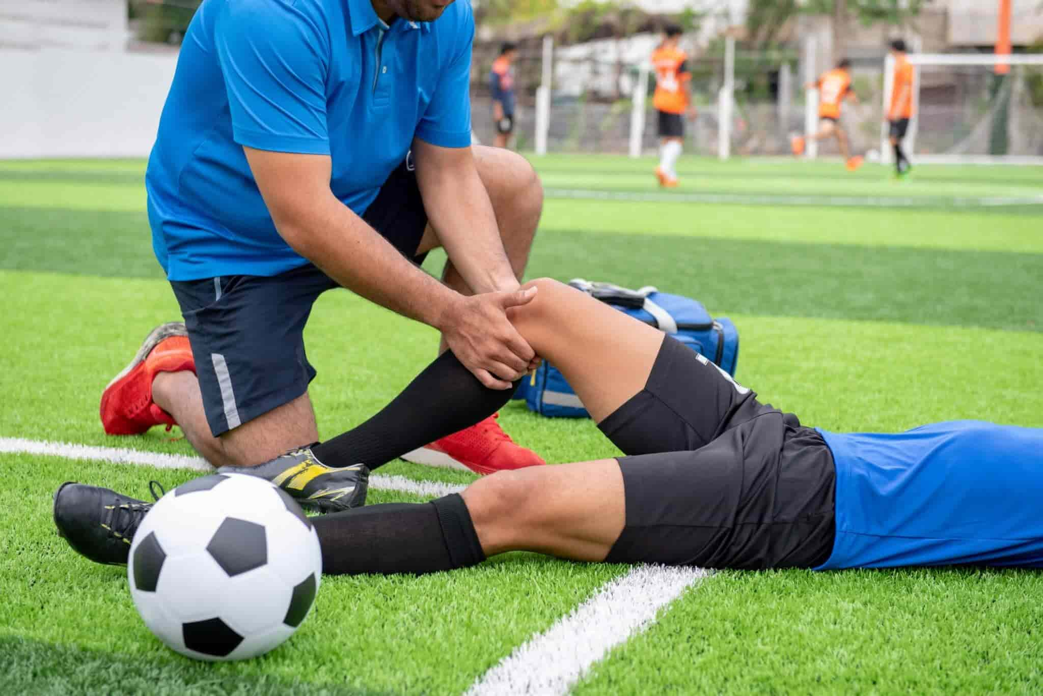 Injured Soccer Athlete with Injury