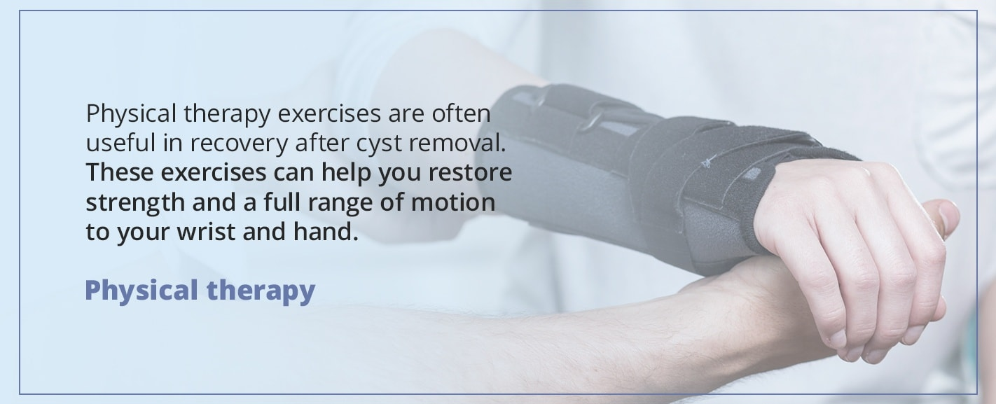 physical therapy for gangion cysts