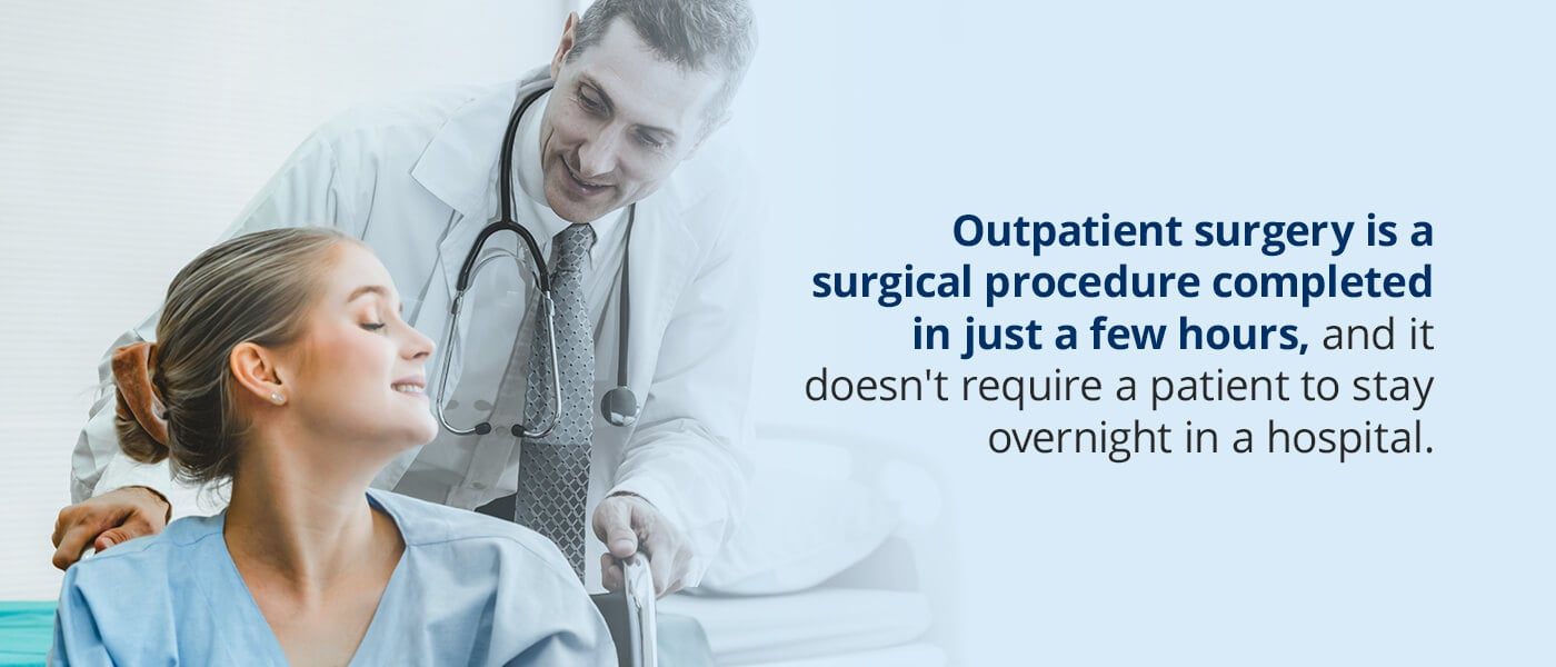 outpatient surgery is a surgical procedure completed in just a few hours