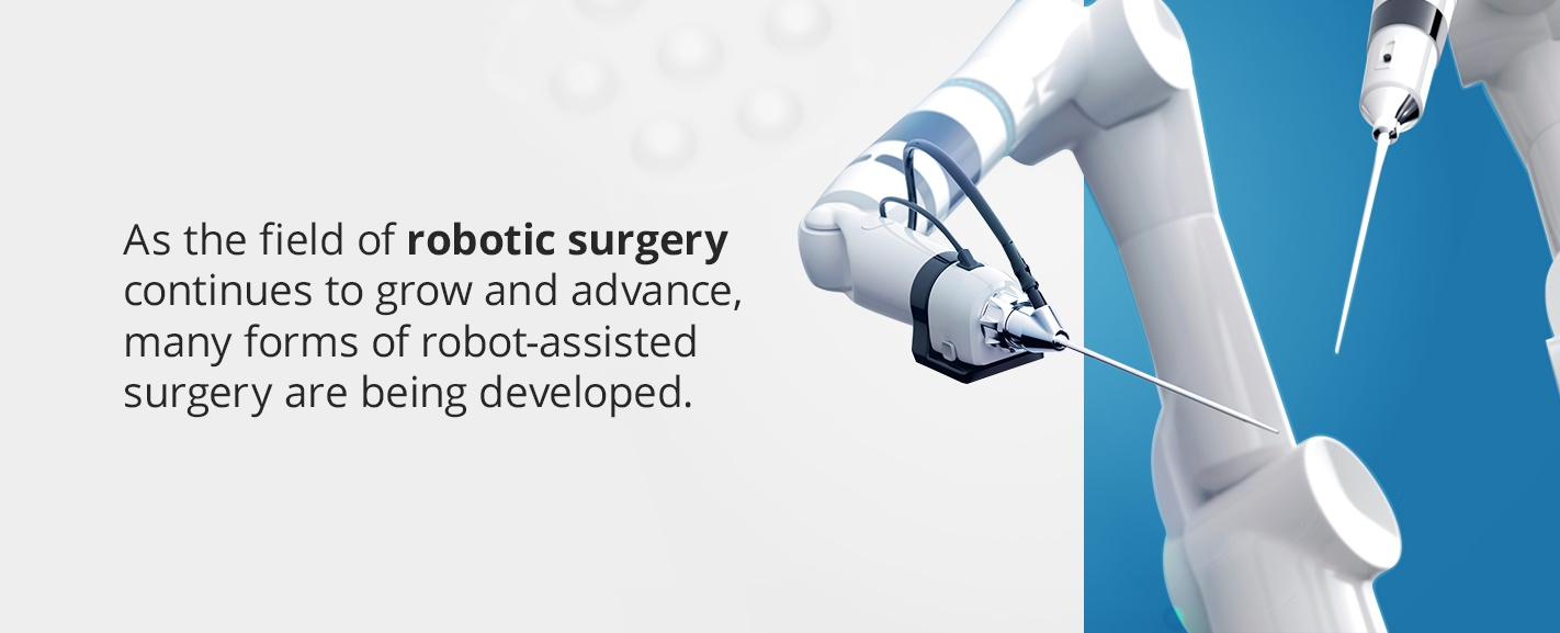 as the field of robotic surgery continues to grow and advance, many forms of robot-assisted surgery is being deleloped