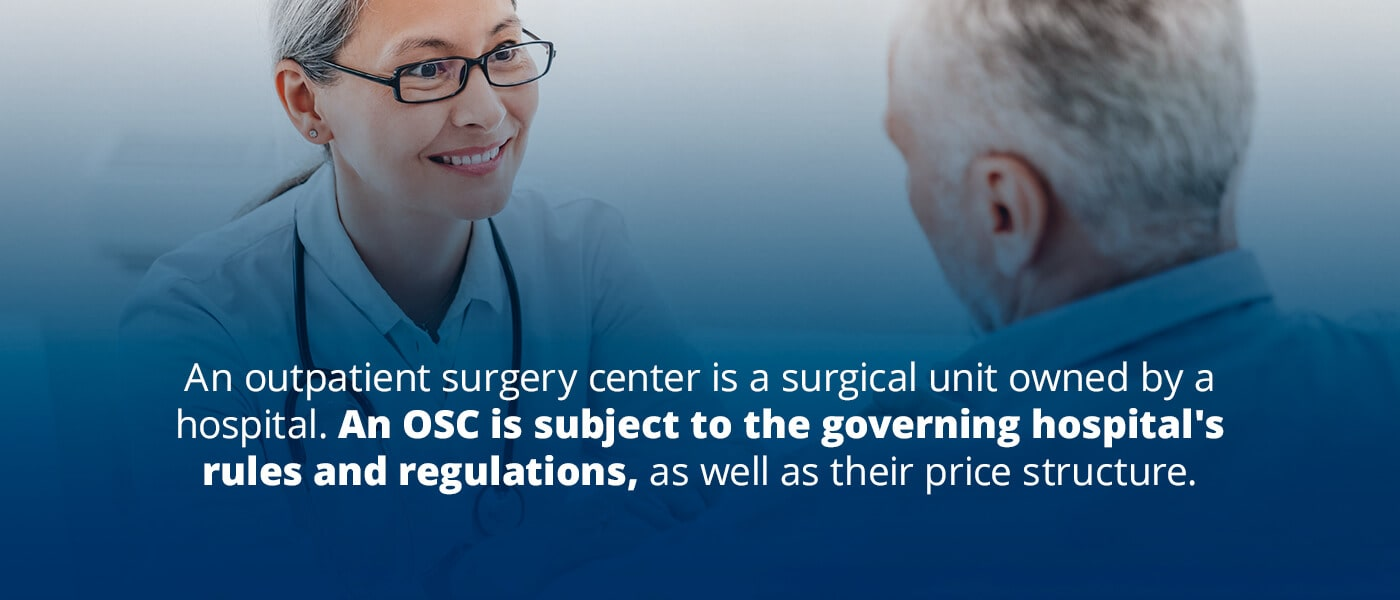an osc is subject to the governing hospital's rules and regulations